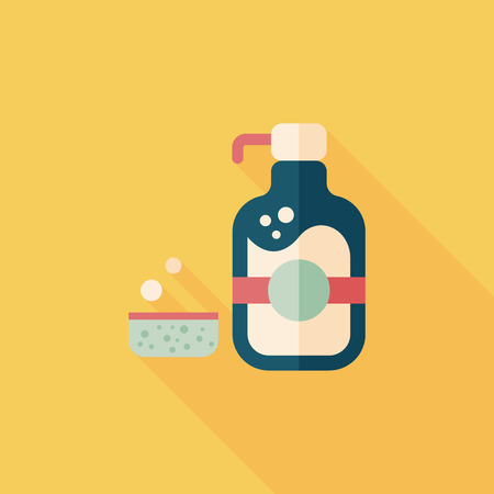 dishwashing liquid: kitchenware dish soap flat icon
