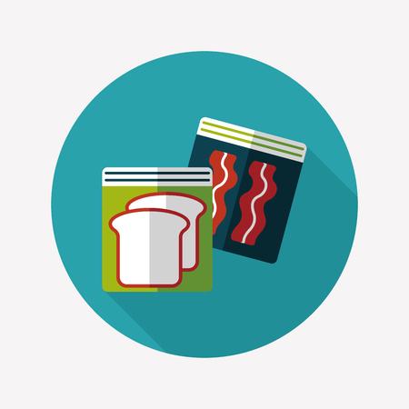 food preservation: kitchenware zipper bags   Illustration