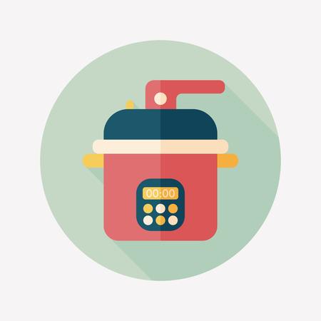 rice cooker: utensilios de cocina cocina de arroz Vectores