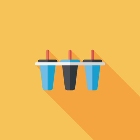 refrigerate: kitchenware ice maker flat icon with long shadow