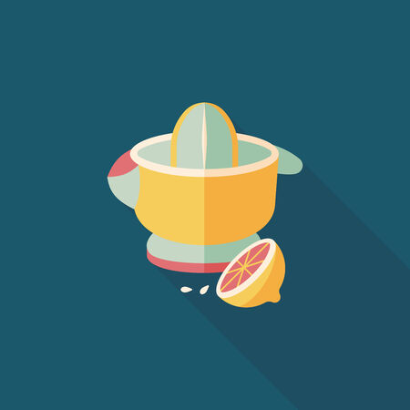 kitchenware juicer flat icon with long shadow,eps10 Vector