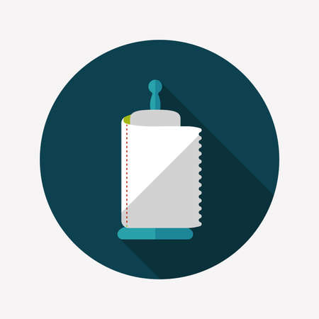 kitchenware paper flat icon with long shadow Vector