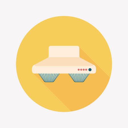 kitchen counter: kitchenware range hood  flat icon with long shadow,eps10 Illustration