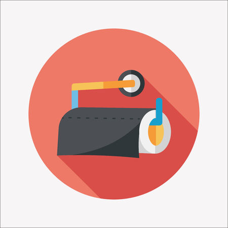kitchenware paper flat icon with long shadow,eps10 Vector