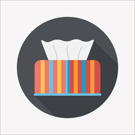 kitchenware tissue paper flat icon with long shadow,eps10 Vector