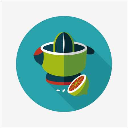 kitchenware juicer flat icon with long shadow