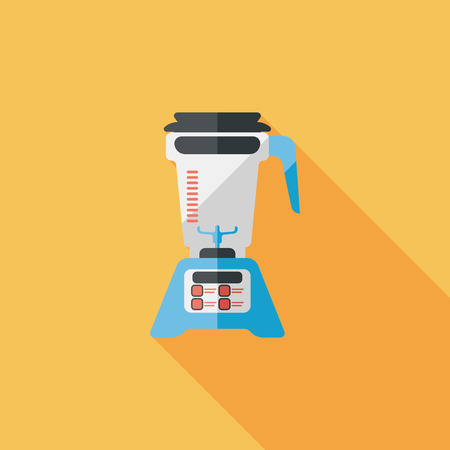 juicer: kitchenware electric juicer flat icon with long shadow Illustration