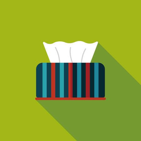 sanitary napkin: kitchenware tissue paper flat icon with long shadow,eps10
