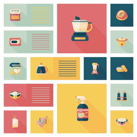 Kitchenware flat app ui background