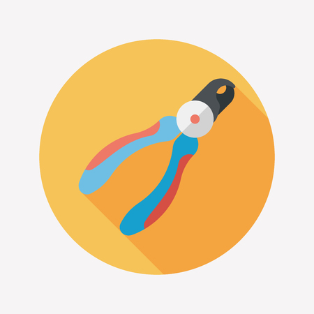 clippers: Pet nail clippers flat icon with long shadow, eps10 Illustration