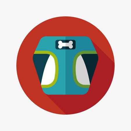 clothed: Abbigliamento Pet icona piatto con una lunga ombra