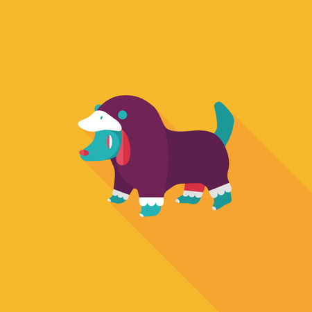 dog costume: Pet Clothes flat icon with long shadow, eps10