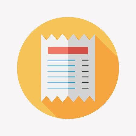 creditcard: icono plana factura de tarjeta de cr�dito comercial con larga sombra, eps10