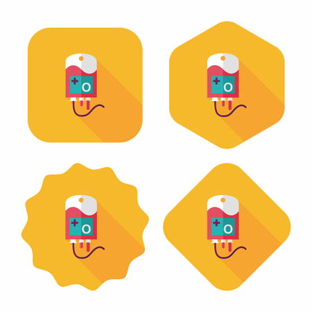 iv: IV bag Flat style Icon with long shadow, eps10 Illustration