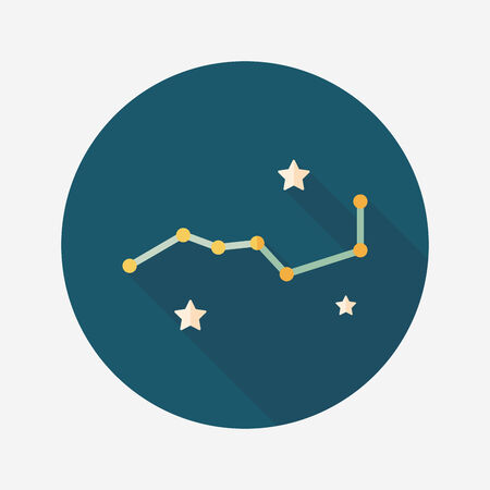 dipper: Space dipper flat icon with long shadow,eps10