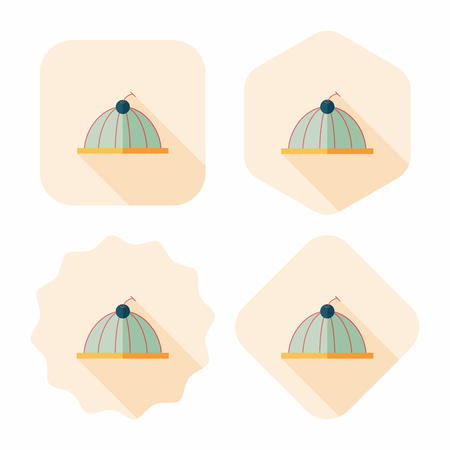 gelatina: dulce icono jalea plana con larga sombra