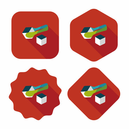 sugar cube: Sugar cubes flat icon with long shadow,eps10