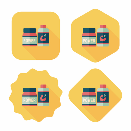 pressure bottle: complementa icono plana de drogas con una larga sombra, eps10