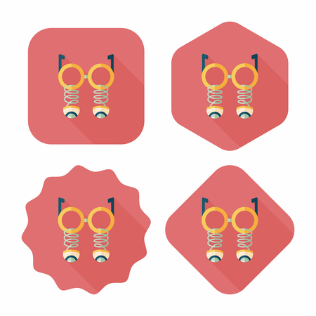 fake nose and glasses: Halloween toy flat icon with long shadow,eps10