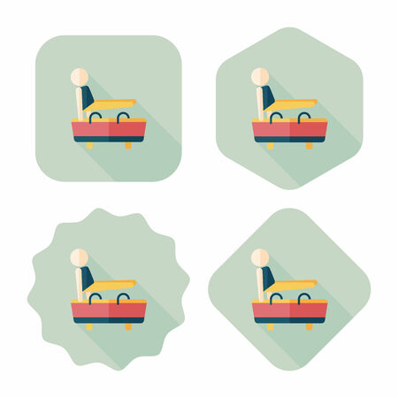 pommel: gymnastic pommel horse flat icon with long shadow,eps10 Illustration