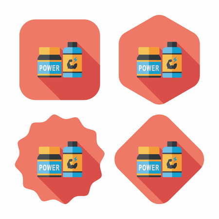 physical pressure: supplements drug flat icon with long shadow,eps10 Illustration