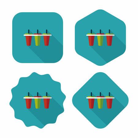 refrigerate: icono plana m�quina de hielo de cocina con una larga sombra, eps10 Vectores