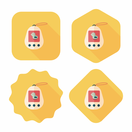 foster: pocket pet flat icon with long shadow,eps 10