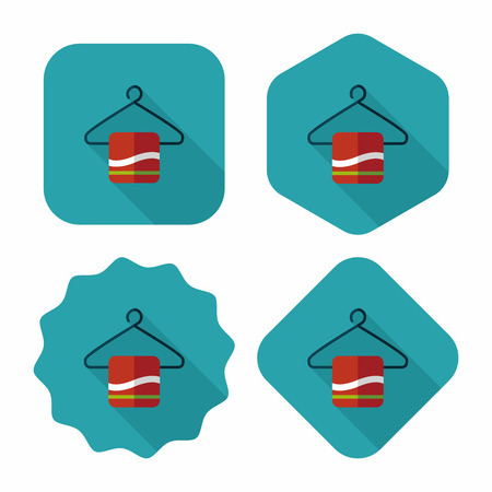 towel hanger flat icon with long shadow,eps10 Vector