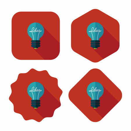 light bulb low: Light bulb flat icon with long shadow,eps10 Illustration