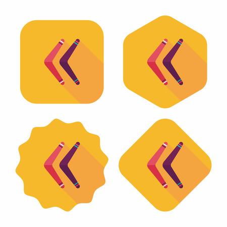 boomerang flat icon with long shadow Vector