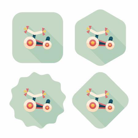 driewieler: Kinderen Driewieler vlakke icoon met lange schaduw, eps10