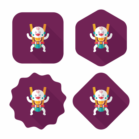 backing: baby flat icon with long shadow,eps10