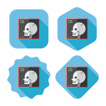 anatomically: x-ray flat icon with long shadow Illustration