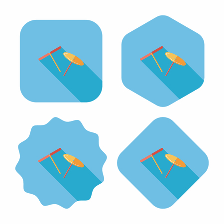 propeller: blades propeller toy flat icon with long shadow