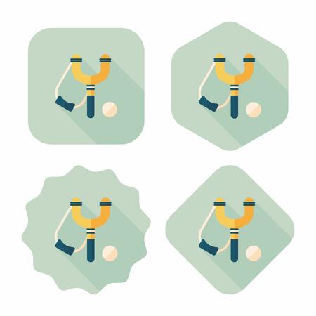 slingshot: slingshot flat icon with long shadow,eps10