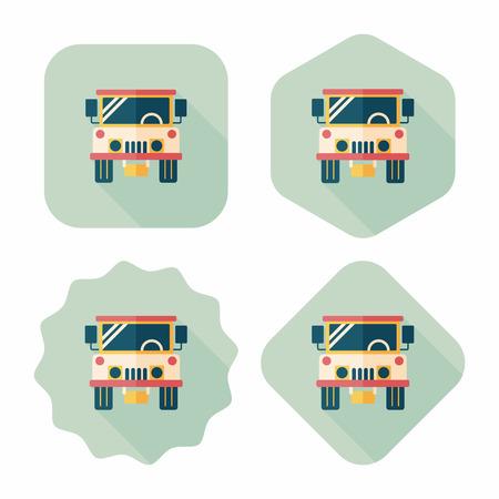 comandante: Trasporti martello icona piatto con una lunga ombra, eps10