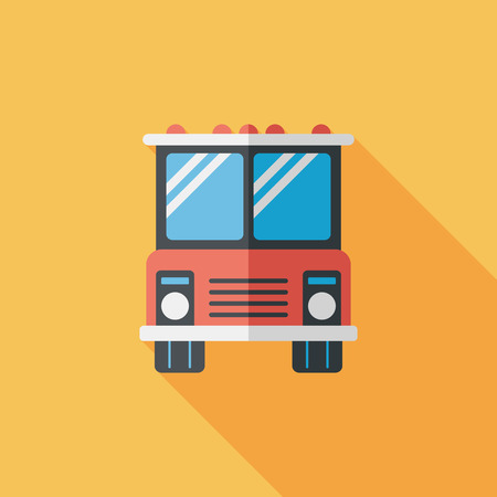 Transportation bus flat icon with long shadow,eps10 Vector