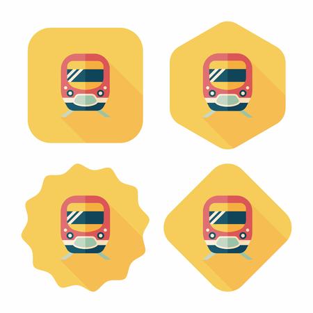Transportation subway flat icon with long shadow,eps10 Illustration
