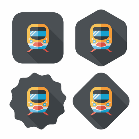 subway road: Transportation subway flat icon with long shadow,eps10 Illustration