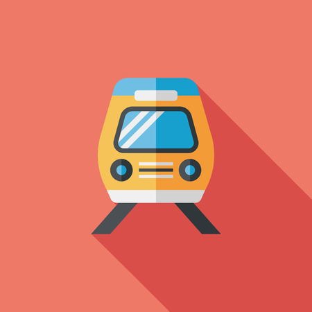 Transportation train flat icon with long shadow,eps10 Vector