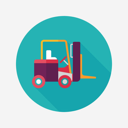 fast driving: Transportation moving truck flat icon with long shadow,eps10 Illustration