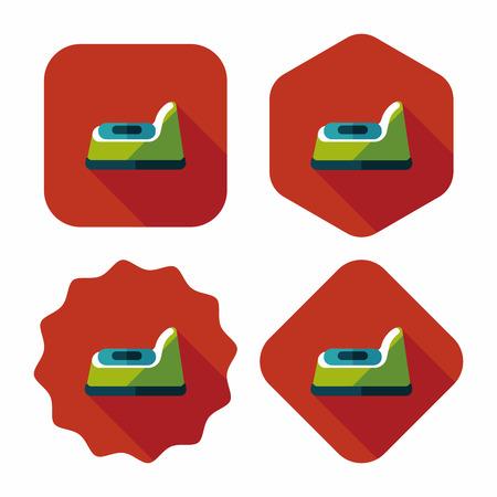 urinare: vasino icona piatto con una lunga ombra, eps10
