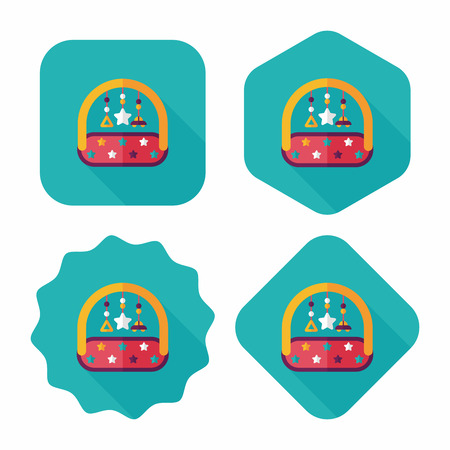 pampering: Baby crib hanging toy flat icon with long shadow,EPS 10 Illustration