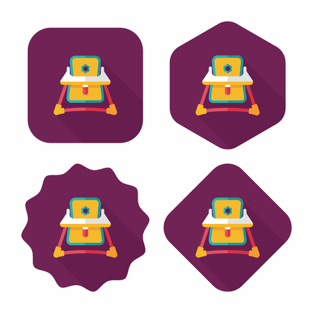 playtime: Baby walker flat icon with long shadow,eps10 Illustration