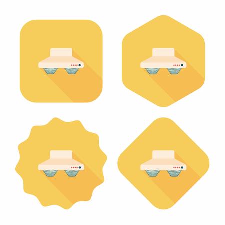 range hood: kitchenware range hood  flat icon with long shadow,eps10 Illustration