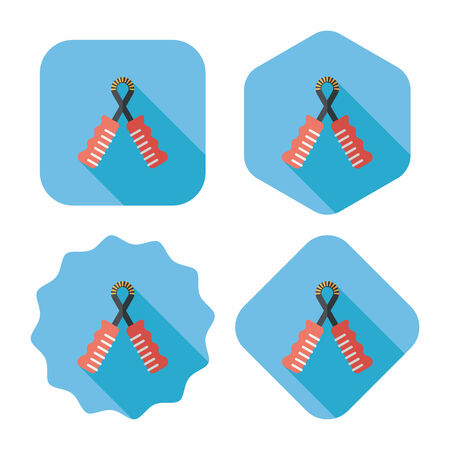 Skipping rope flat icon with long shadow, eps10 Vector