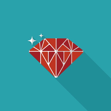 propose: Propose diamond flat icon with long shadow.