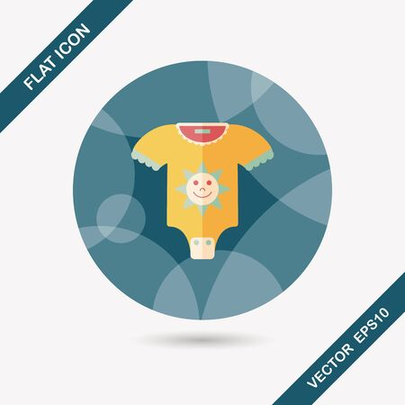 baby onesie flat icon with long shadow,eps10