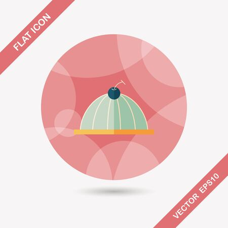 gelatin: sweet jelly flat icon with long shadow,eps10 Illustration