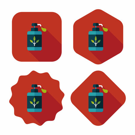 additives: Environmental protection concept flat icon with long shadow,eps10; No chemical additives cleaners.